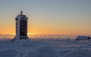 Winterbilder von einer Brockenwanderung